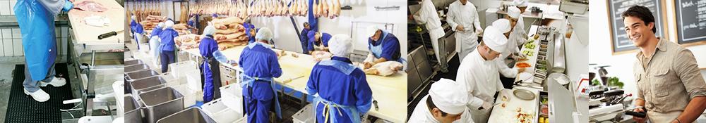 Arbejdsmåtter specielt til storkøkkener og Fødevareindustri fra Ergotec