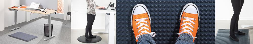 Ergonomiske arbejdsmåtter til kontor i flere forskellige størrelser varianter og farver få god ergonomi på arbejdspladsen med en arbejdsmåtte fra ergotec