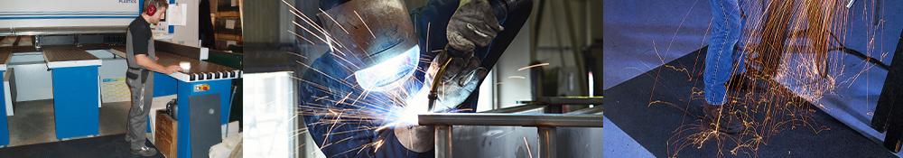 Arbejdsmåtter specielt designet til metalindustri og værksteder i flere mål og størrelser som alle lever op til arbejdsmiljøkravene