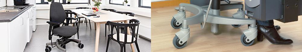 rehab stole fra Ergotec stole med ekstra hjælp og udstyr
