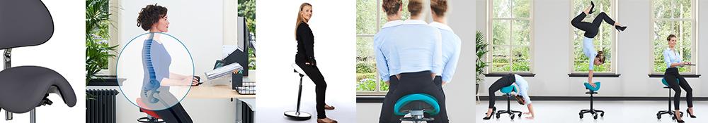 Sadelstole specielt designet til kontor og kontorarbejde