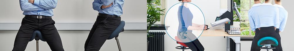 Saddelstole supportstole til alle arbejdssituationer god støtte og ergonomiske fordele